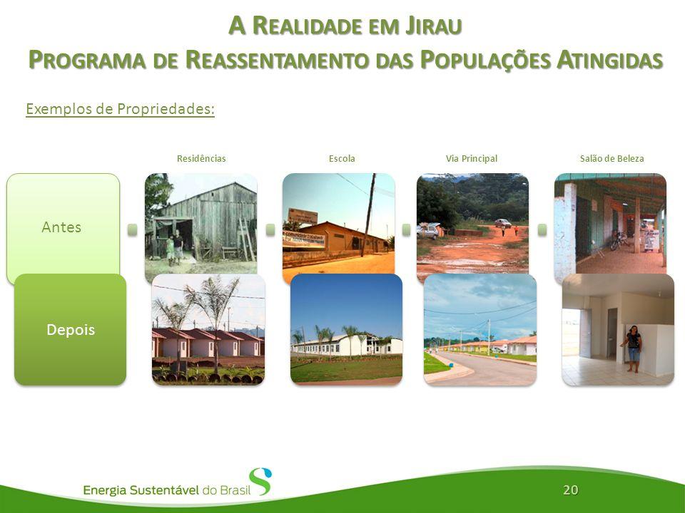A Realidade em Jirau Programa de Reassentamento das Populações Atingidas