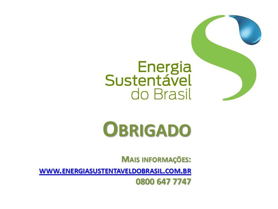 Obrigado Mais informações: www. energiasustentaveldobrasil. com