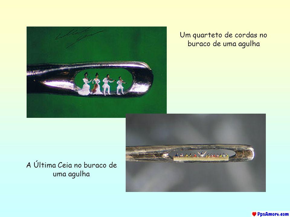 Um quarteto de cordas no buraco de uma agulha