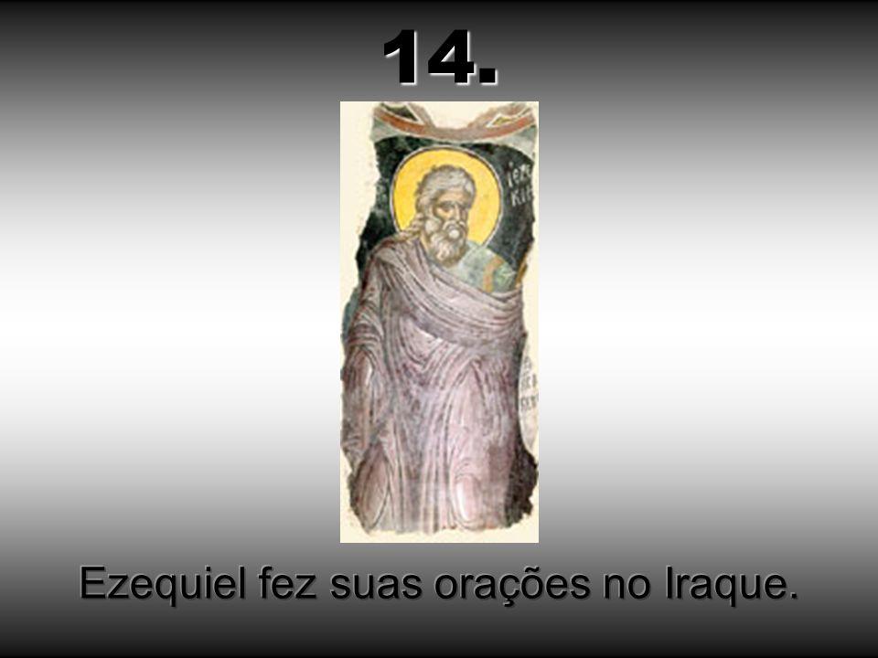 Ezequiel fez suas orações no Iraque.