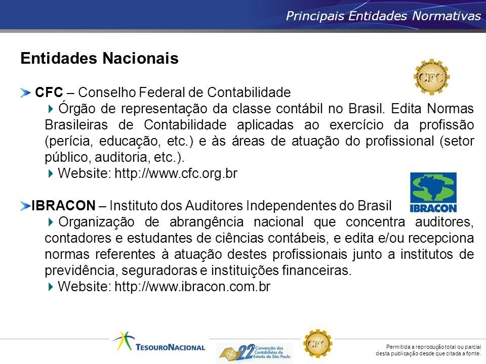 Entidades Nacionais CFC – Conselho Federal de Contabilidade