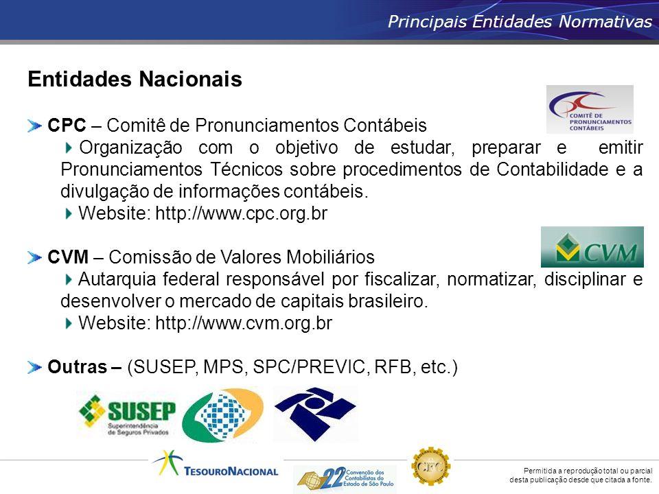Entidades Nacionais CPC – Comitê de Pronunciamentos Contábeis