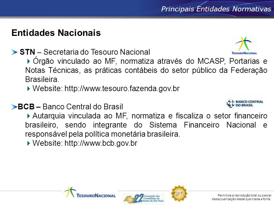 Entidades Nacionais STN – Secretaria do Tesouro Nacional