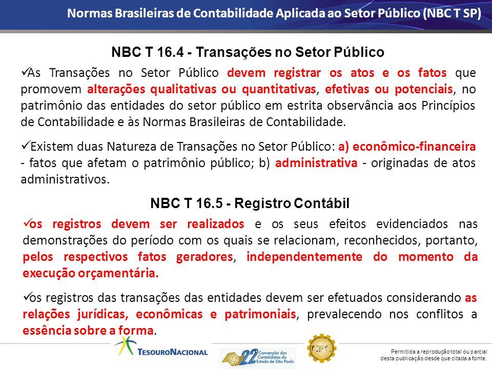 NBC T 16.4 - Transações no Setor Público