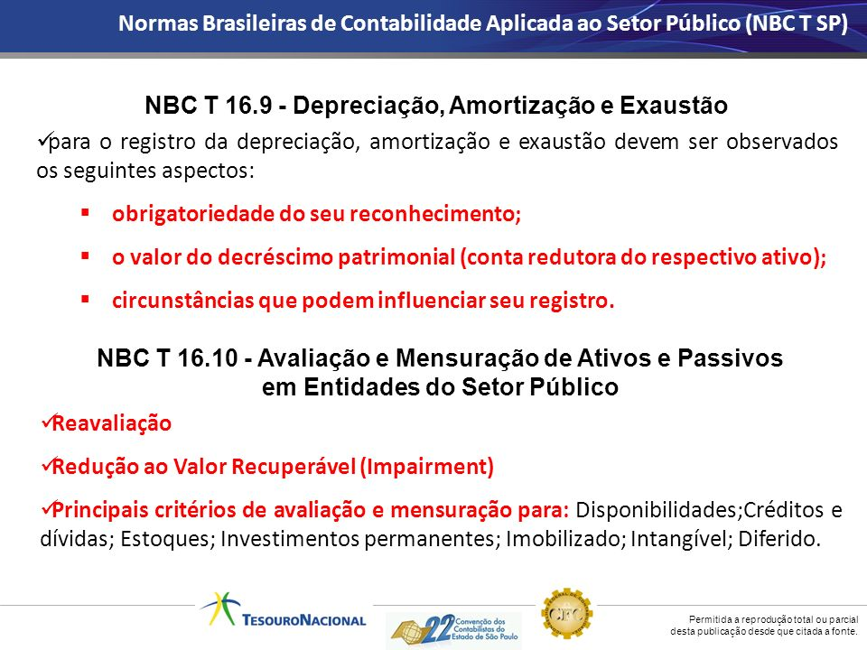 NBC T 16.9 - Depreciação, Amortização e Exaustão