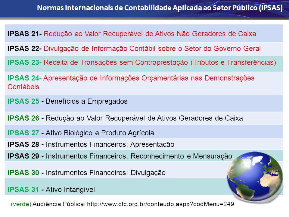 Normas Internacionais de Contabilidade Aplicada ao Setor Público (IPSAS)