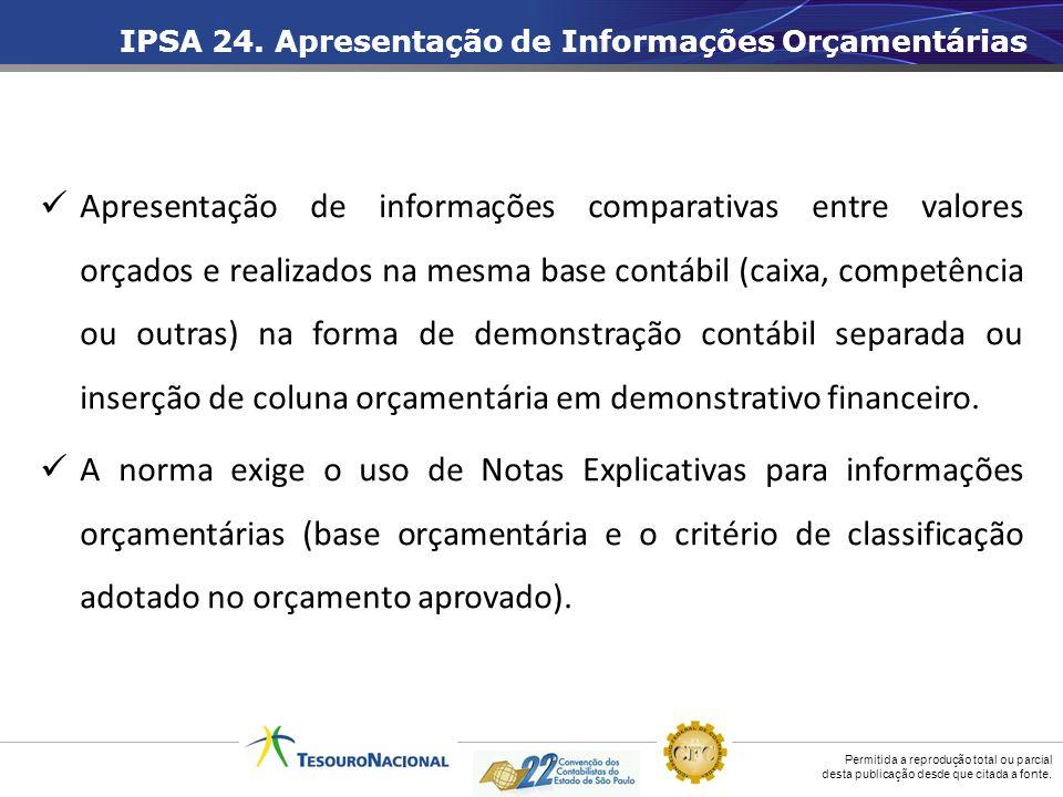 IPSA 24. Apresentação de Informações Orçamentárias