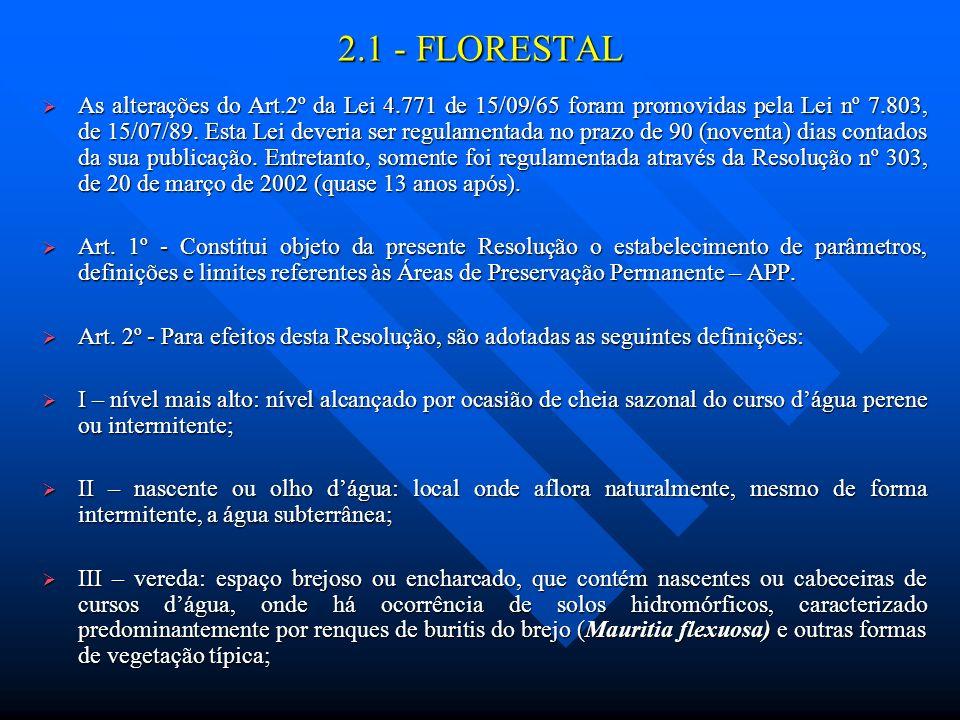 2.1 - FLORESTAL