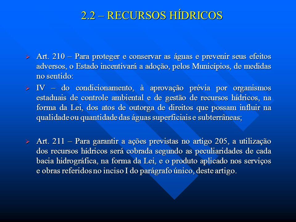 2.2 – RECURSOS HÍDRICOS