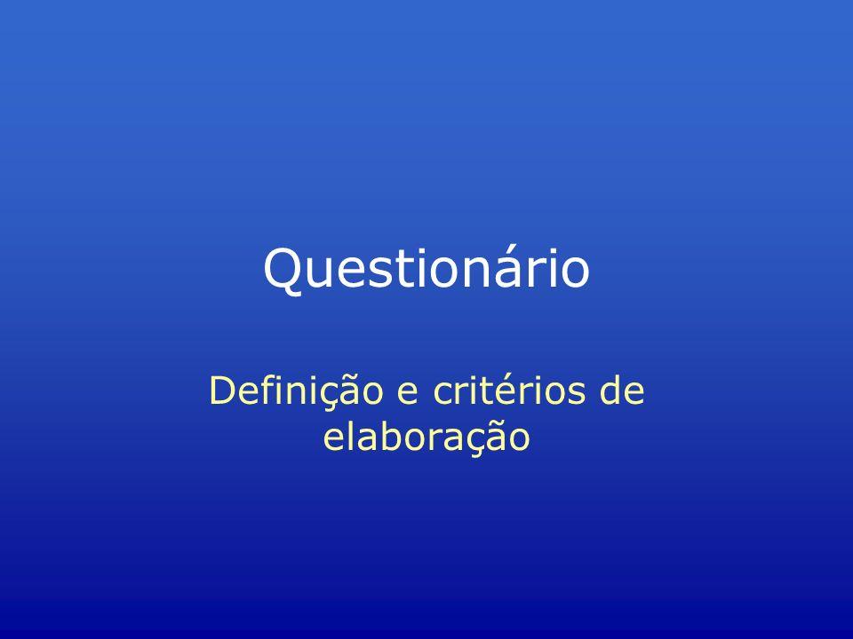 Definição e critérios de elaboração