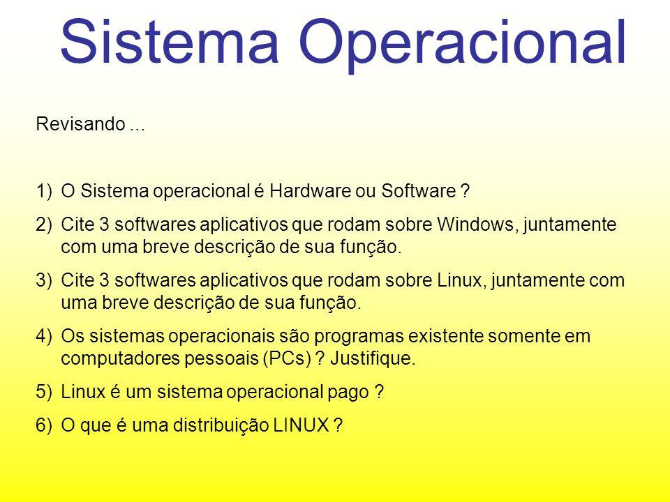 Sistema Operacional Revisando ...