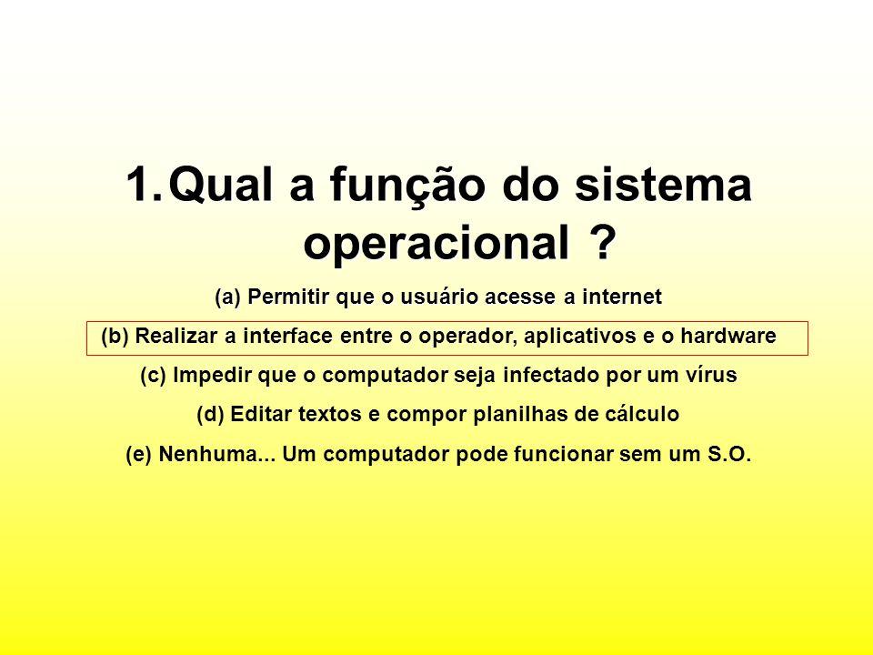 Qual a função do sistema operacional