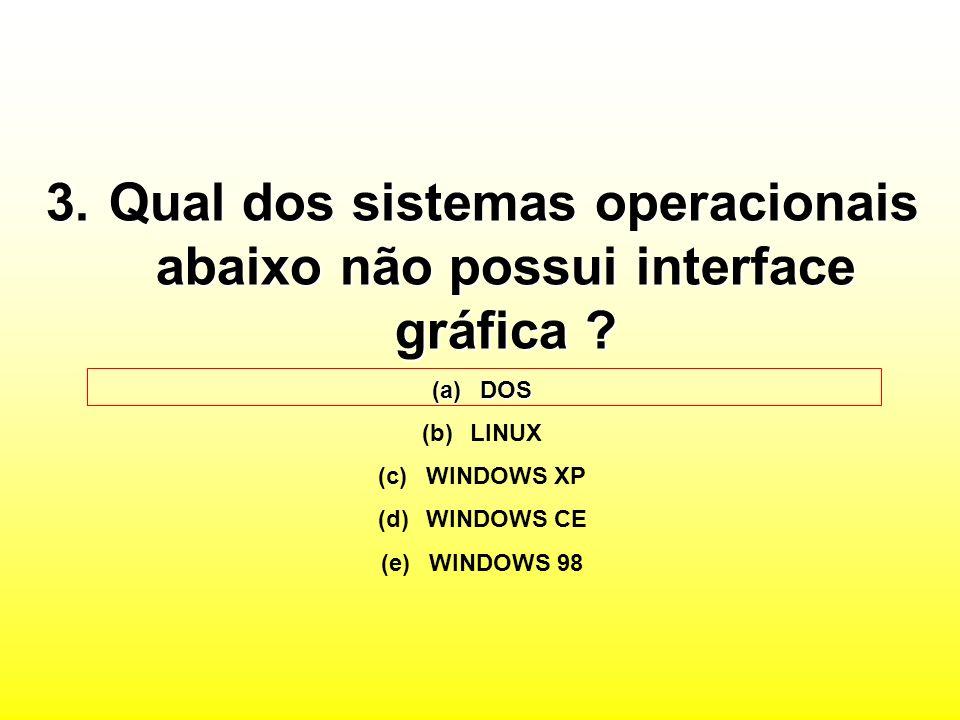 Qual dos sistemas operacionais abaixo não possui interface gráfica