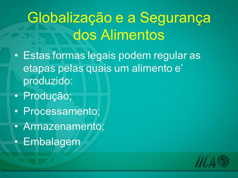 Globalização e a Segurança dos Alimentos