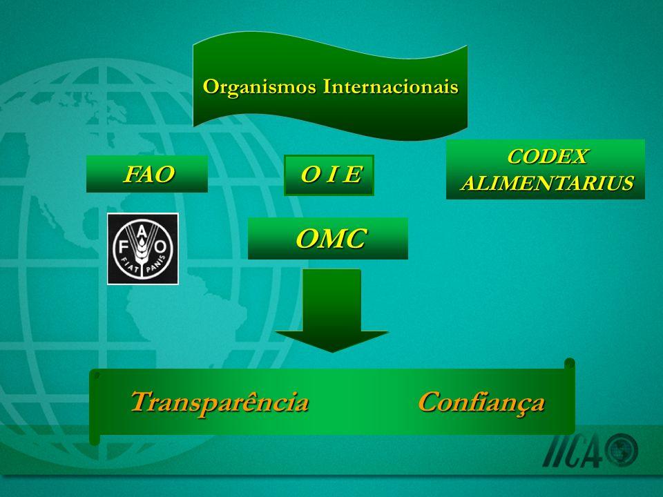 Organismos Internacionais Transparência Confiança