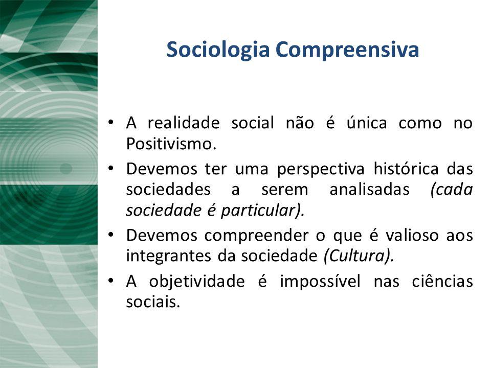 Sociologia Compreensiva