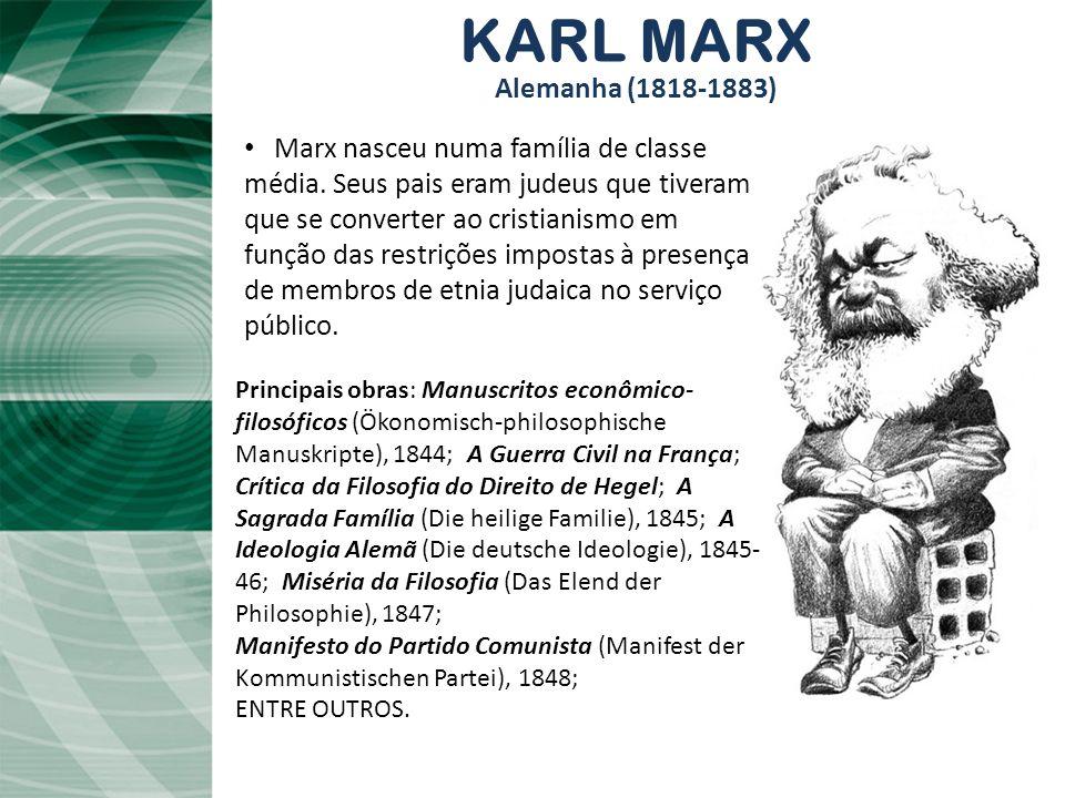 KARL MARX Alemanha (1818-1883)