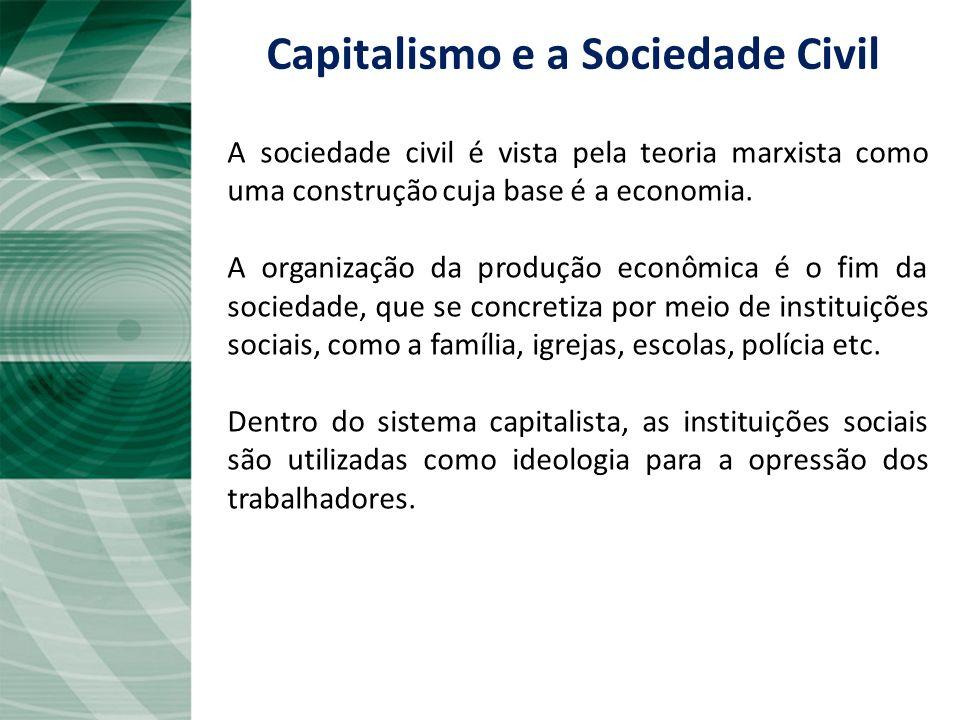 Capitalismo e a Sociedade Civil