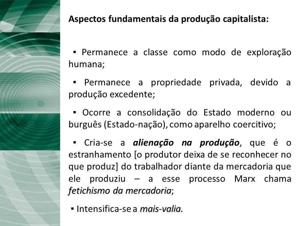 Aspectos fundamentais da produção capitalista: