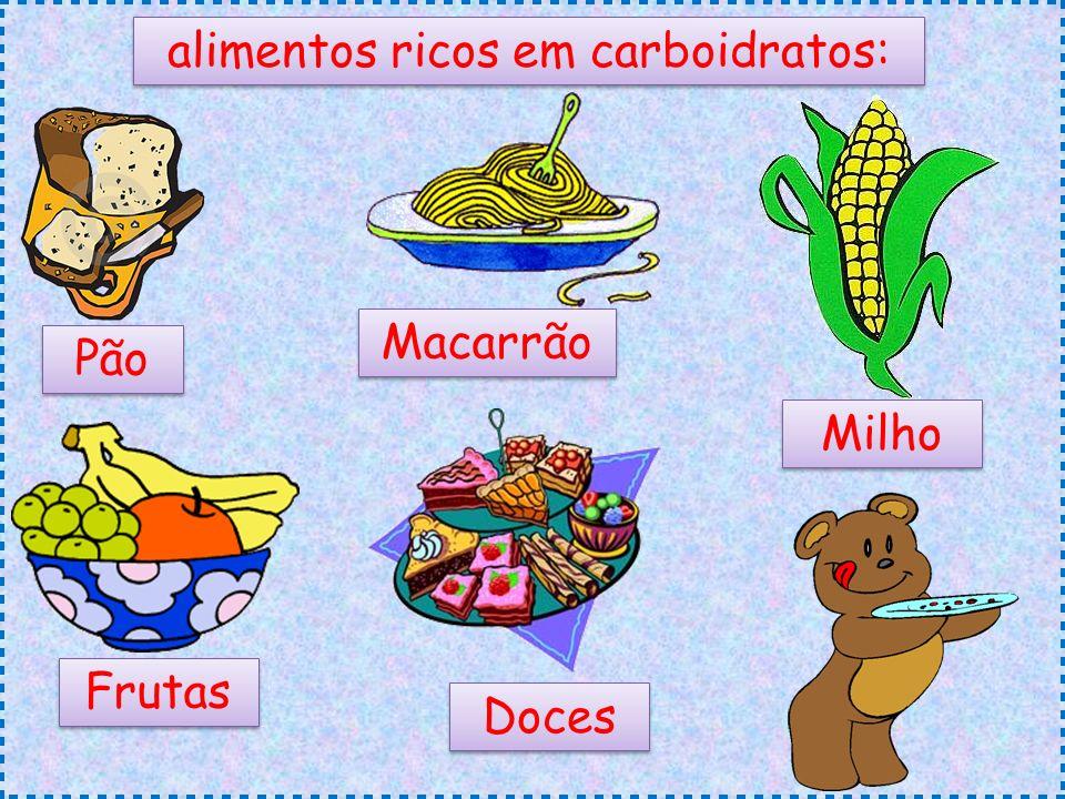 alimentos ricos em carboidratos: