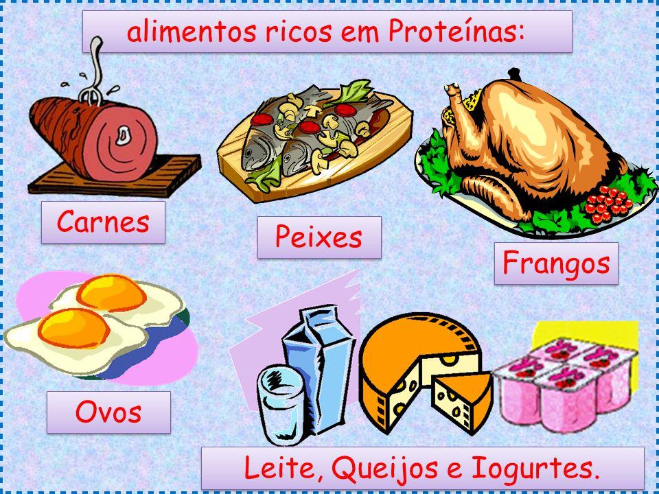 alimentos ricos em Proteínas: