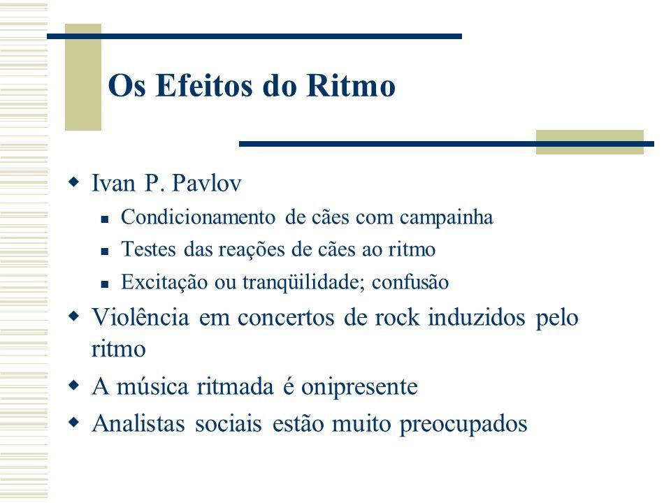 Os Efeitos do Ritmo Ivan P. Pavlov
