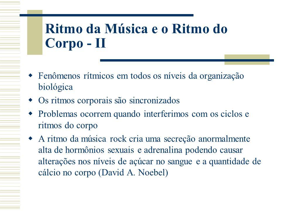 Ritmo da Música e o Ritmo do Corpo - II
