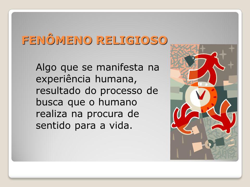 FENÔMENO RELIGIOSO