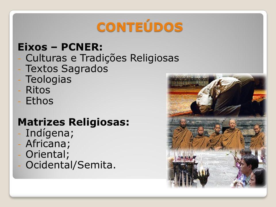 CONTEÚDOS Eixos – PCNER: Culturas e Tradições Religiosas