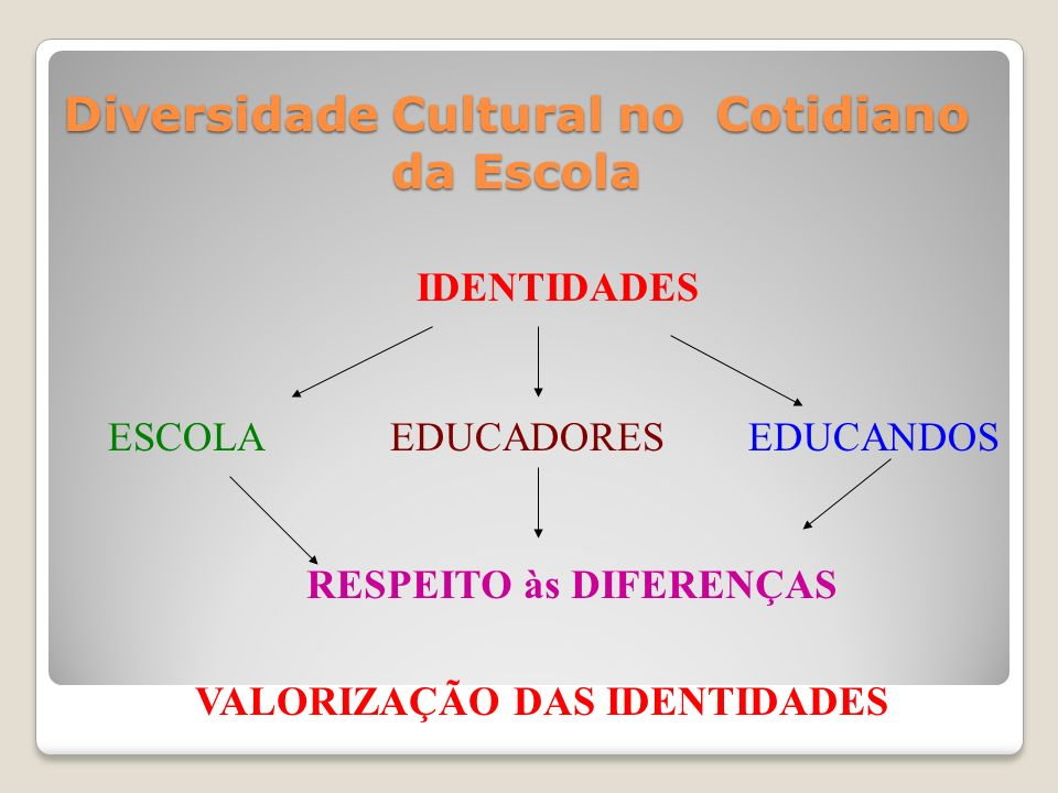 Diversidade Cultural no Cotidiano da Escola