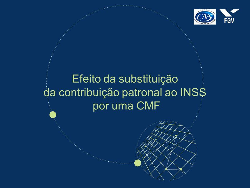 Efeito da substituição da contribuição patronal ao INSS por uma CMF