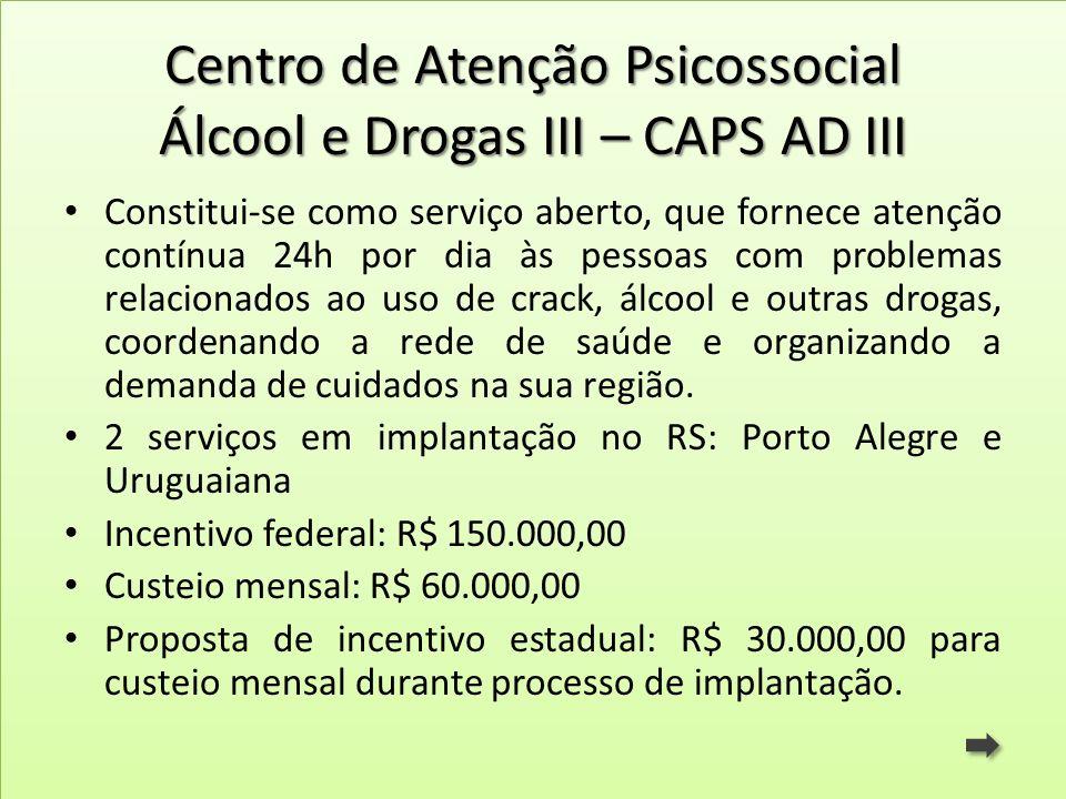 Centro de Atenção Psicossocial Álcool e Drogas III – CAPS AD III