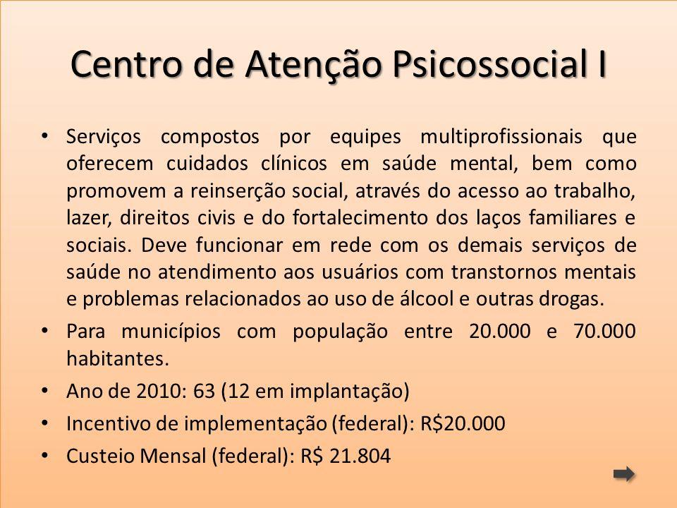Centro de Atenção Psicossocial I
