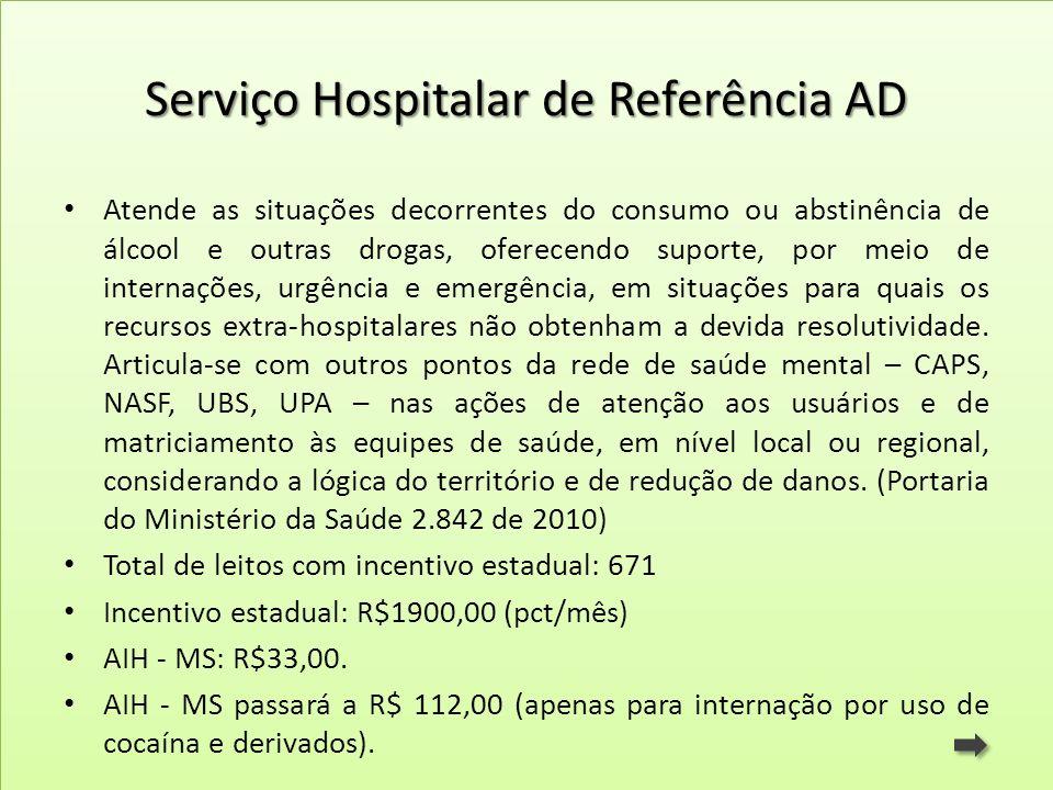 Serviço Hospitalar de Referência AD