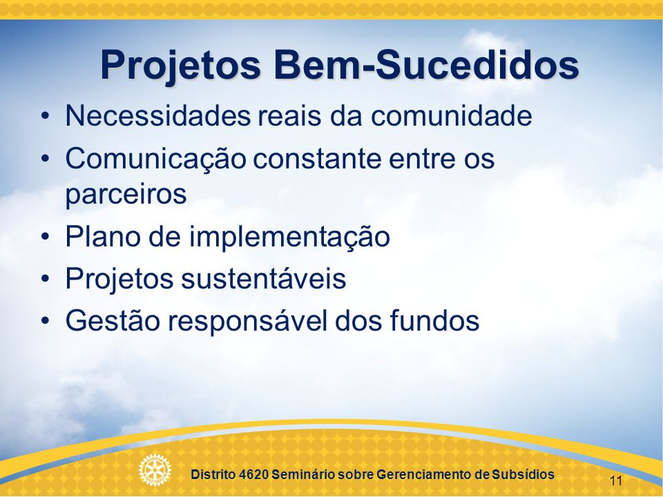 Projetos Bem-Sucedidos