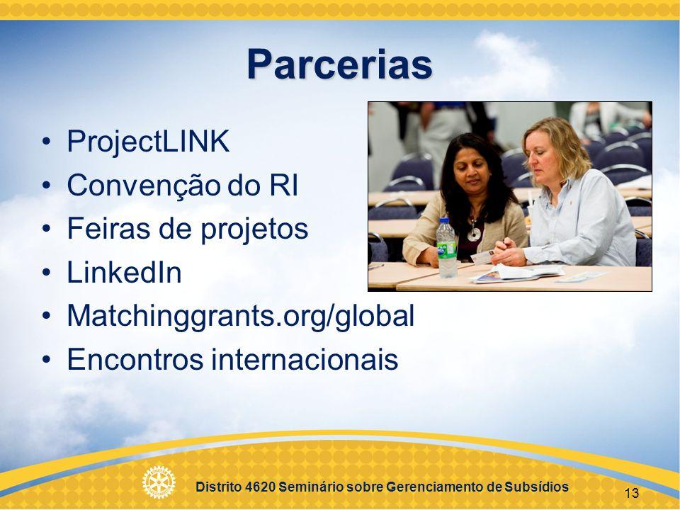 Parcerias ProjectLINK Convenção do RI Feiras de projetos LinkedIn