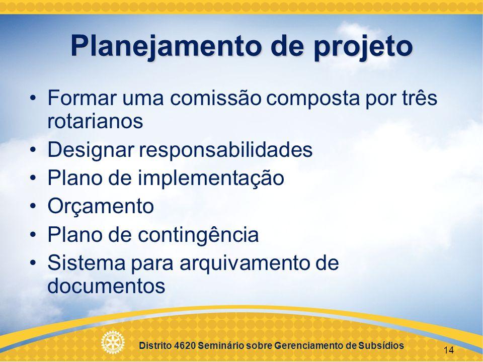 Planejamento de projeto