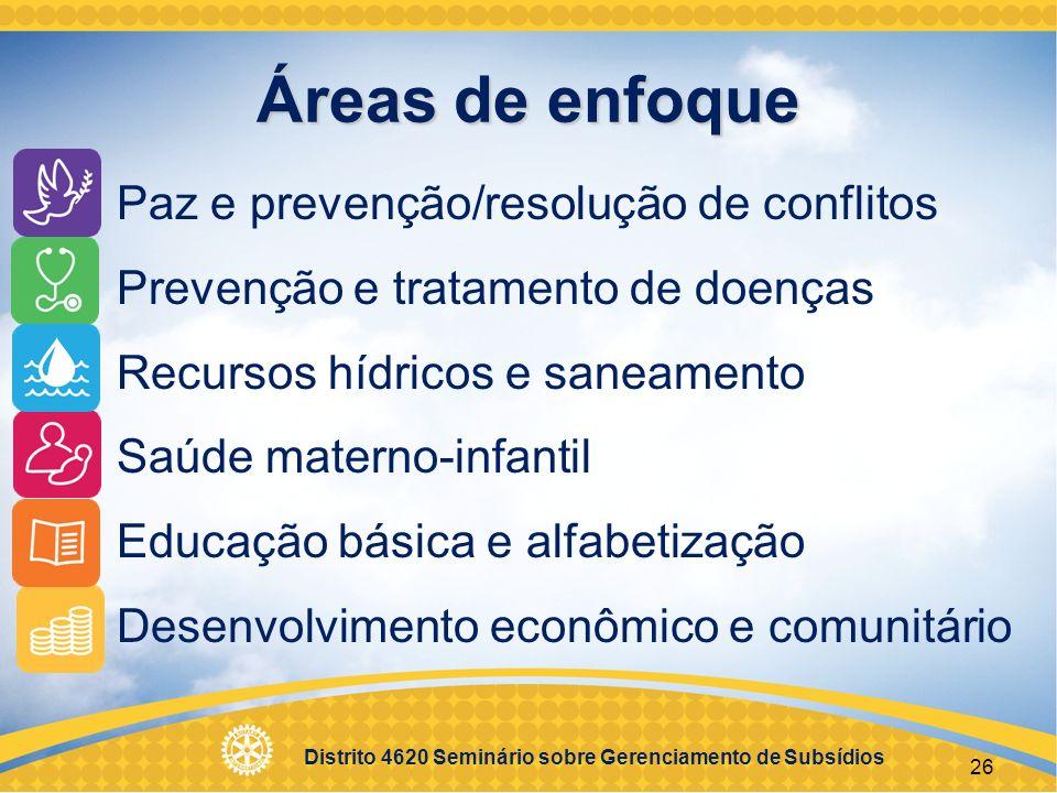 Áreas de enfoque Paz e prevenção/resolução de conflitos