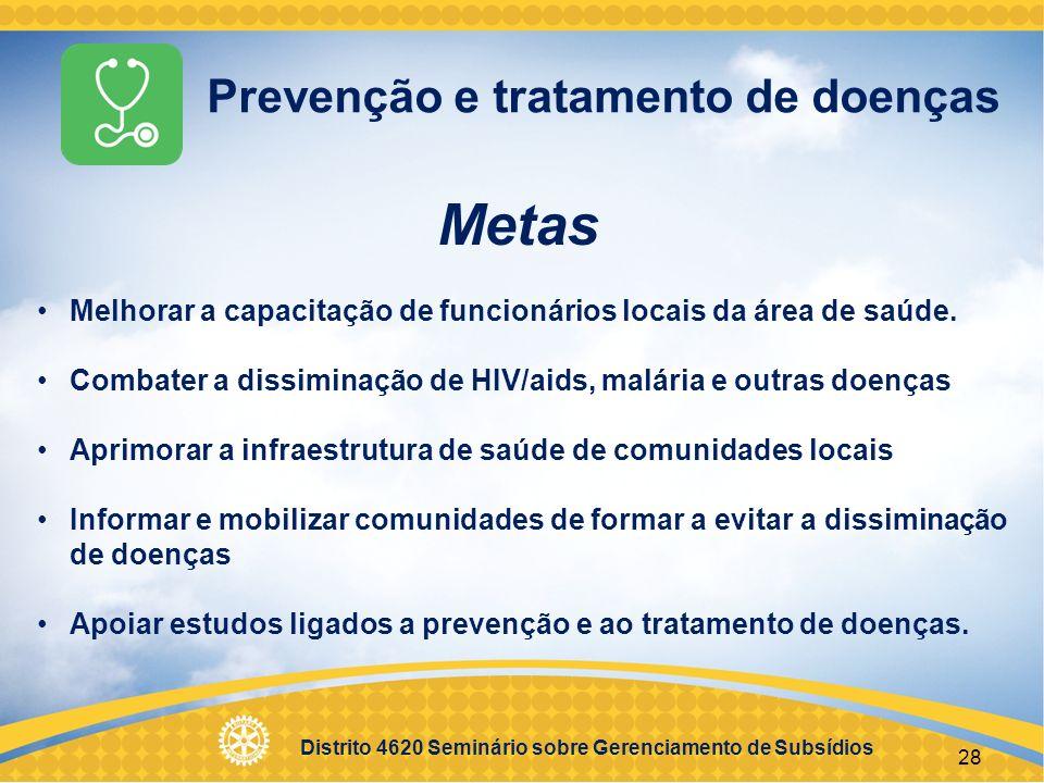 Metas Prevenção e tratamento de doenças