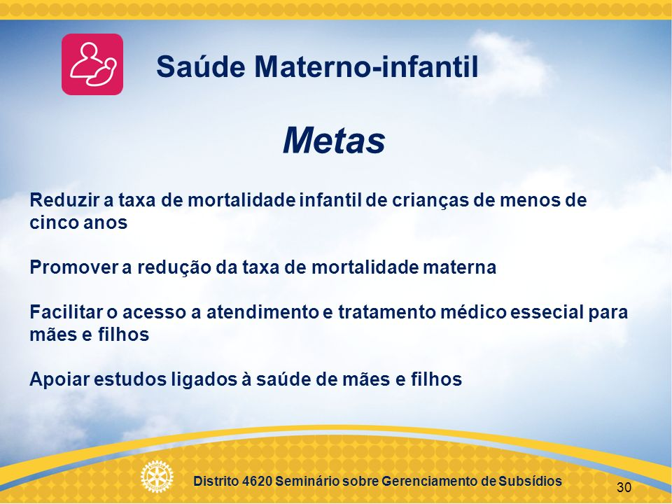 Metas Saúde Materno-infantil