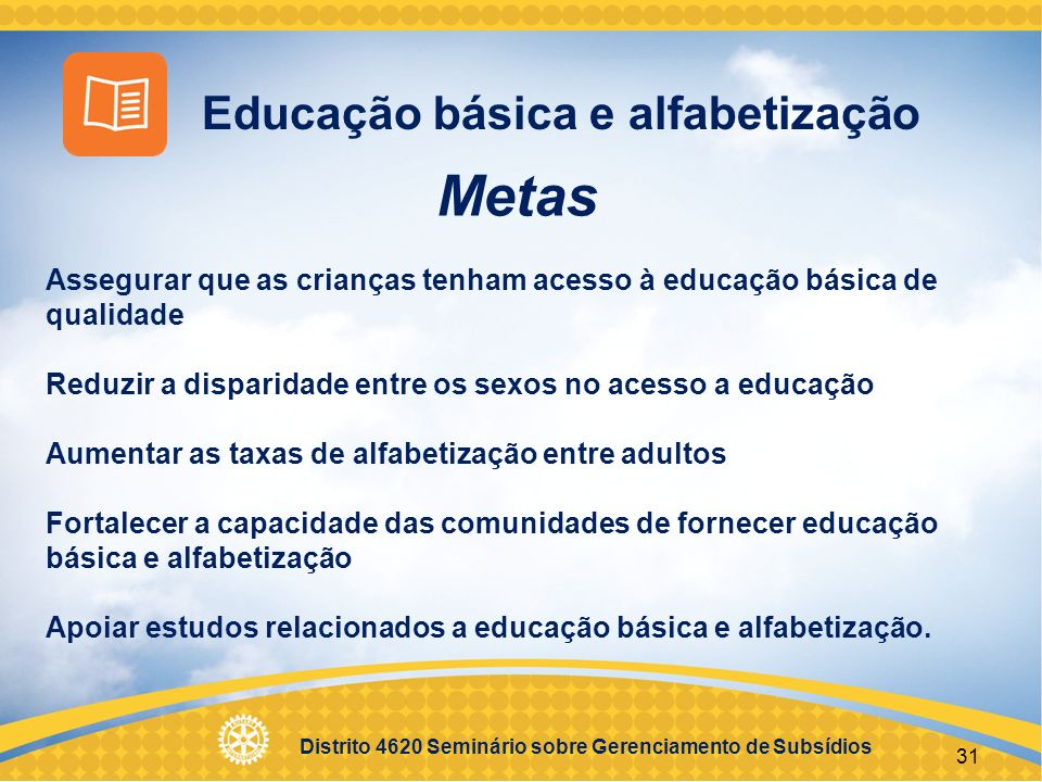 Metas Educação básica e alfabetização