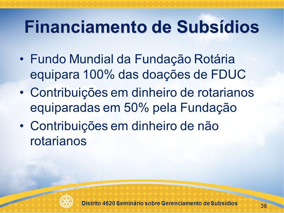 Financiamento de Subsídios