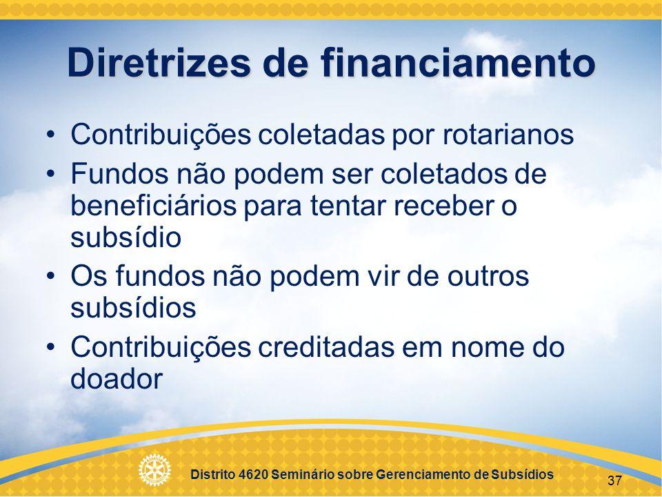 Diretrizes de financiamento