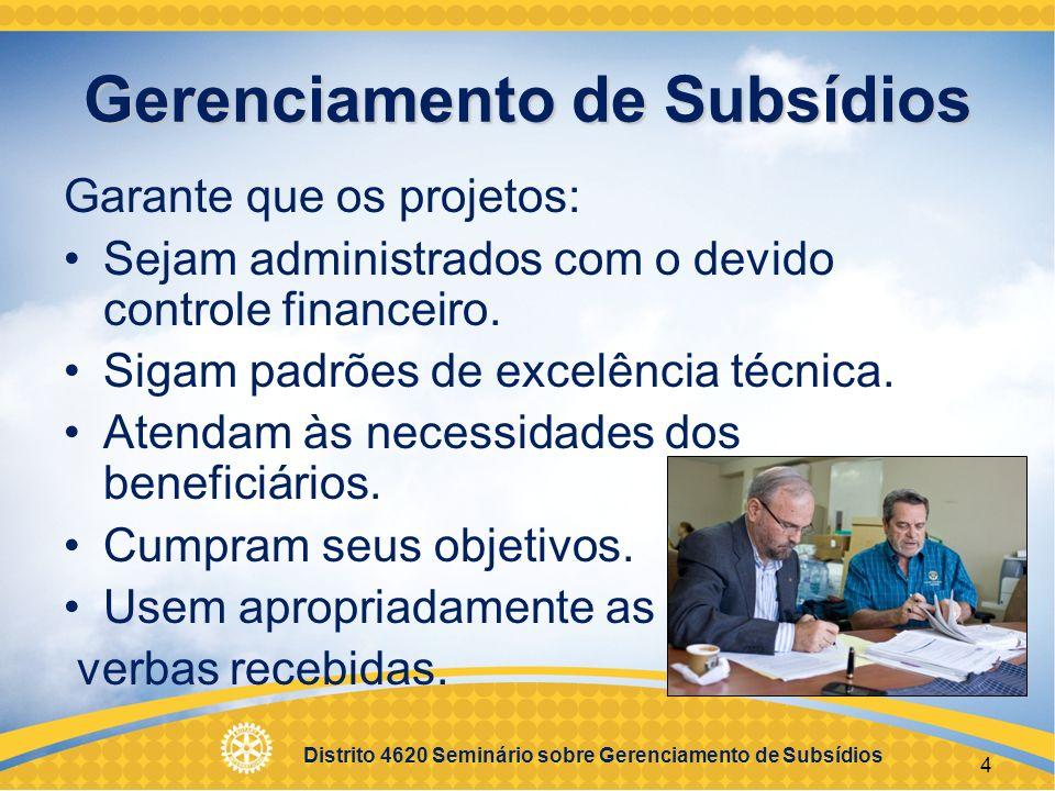 Gerenciamento de Subsídios