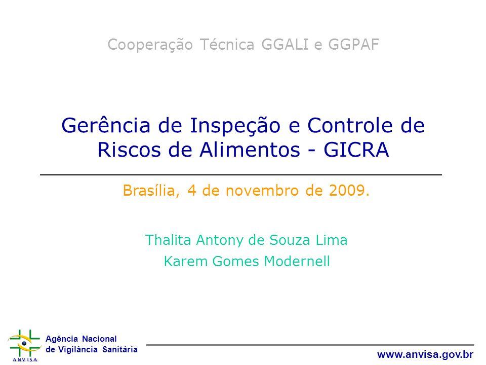 Cooperação Técnica GGALI e GGPAF