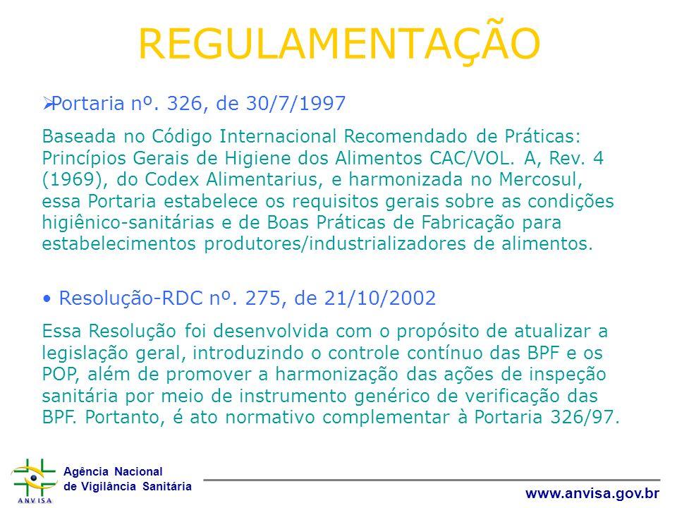 REGULAMENTAÇÃO Portaria nº. 326, de 30/7/1997