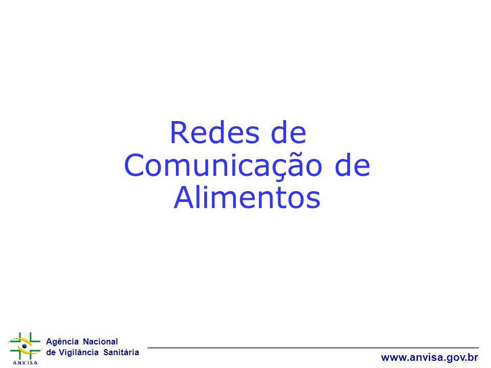 Redes de Comunicação de Alimentos