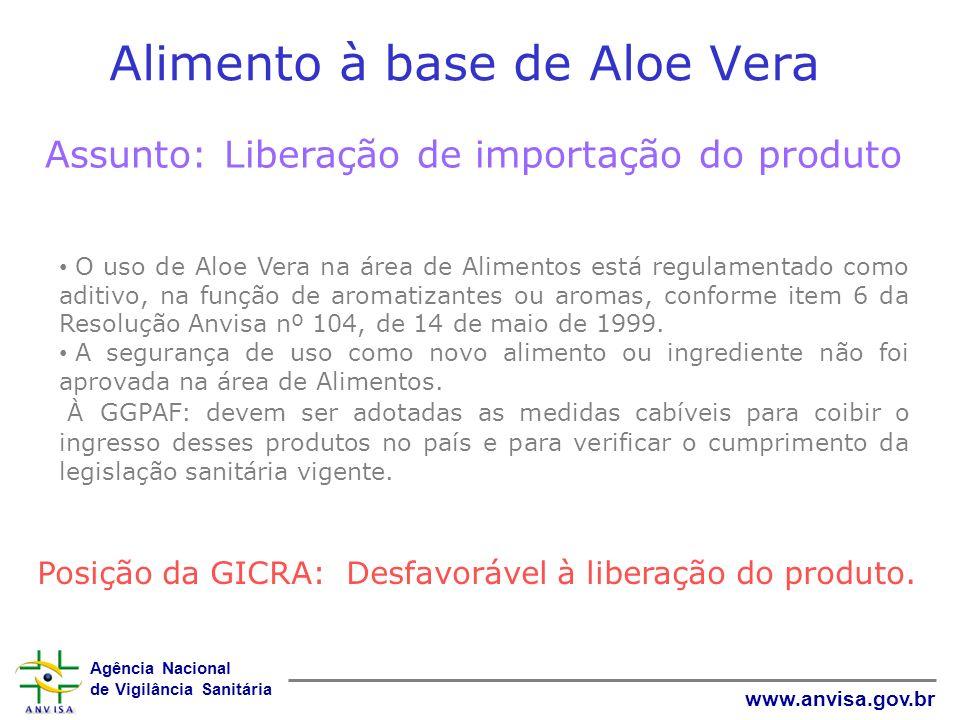 Alimento à base de Aloe Vera