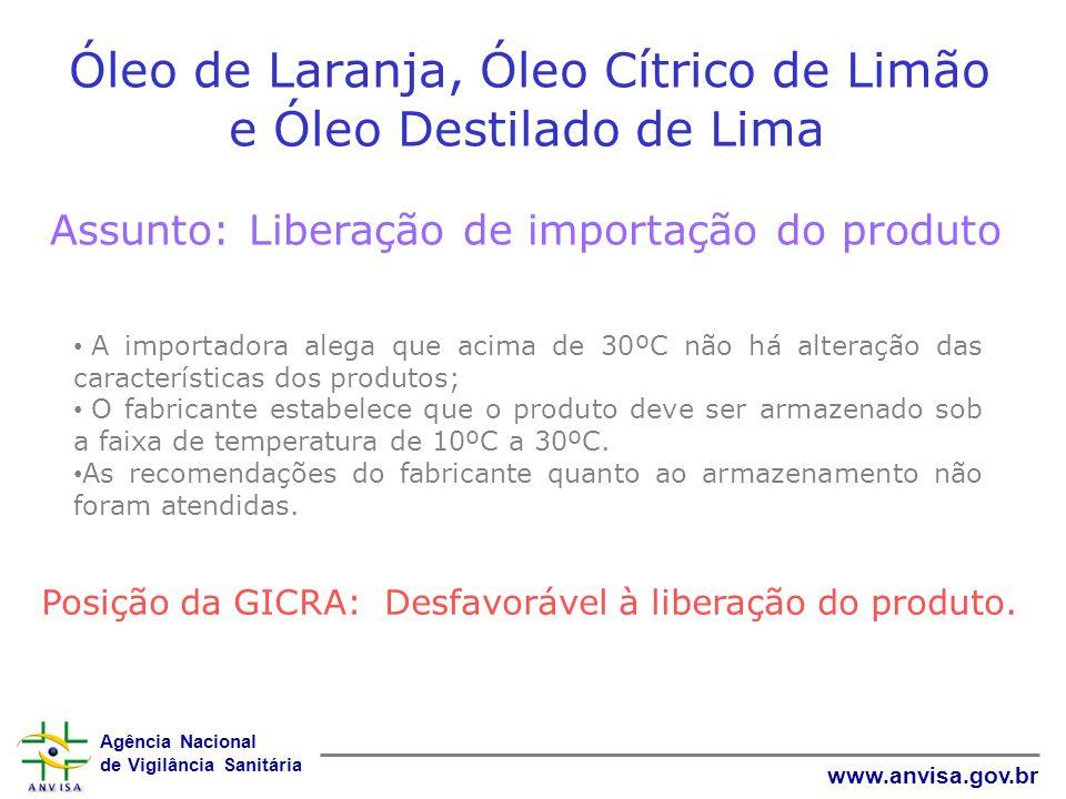 Óleo de Laranja, Óleo Cítrico de Limão e Óleo Destilado de Lima