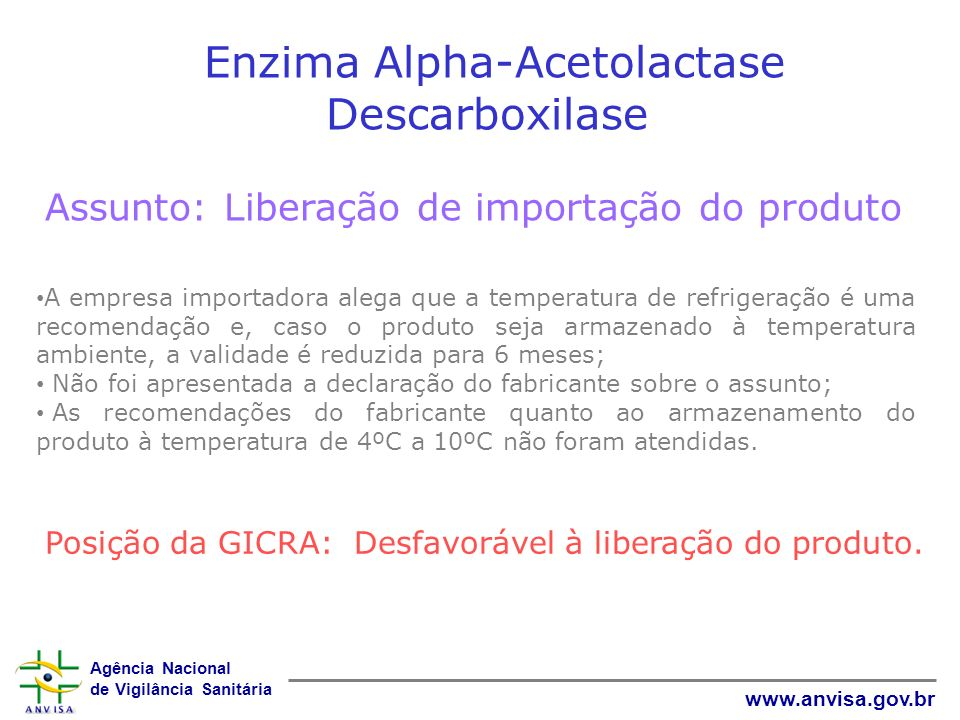 Enzima Alpha-Acetolactase Descarboxilase